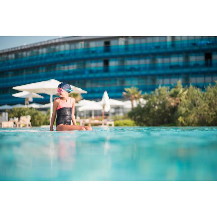 Maillot de bain de natation fille une pièce Taïs bleu corail