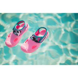 Badslippers voor zwembad meisjes Clog 100 roze panda