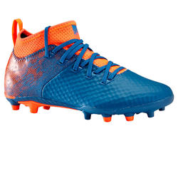 Voetbalschoenen kind Agility 900 mesh mid FG blauw/rood