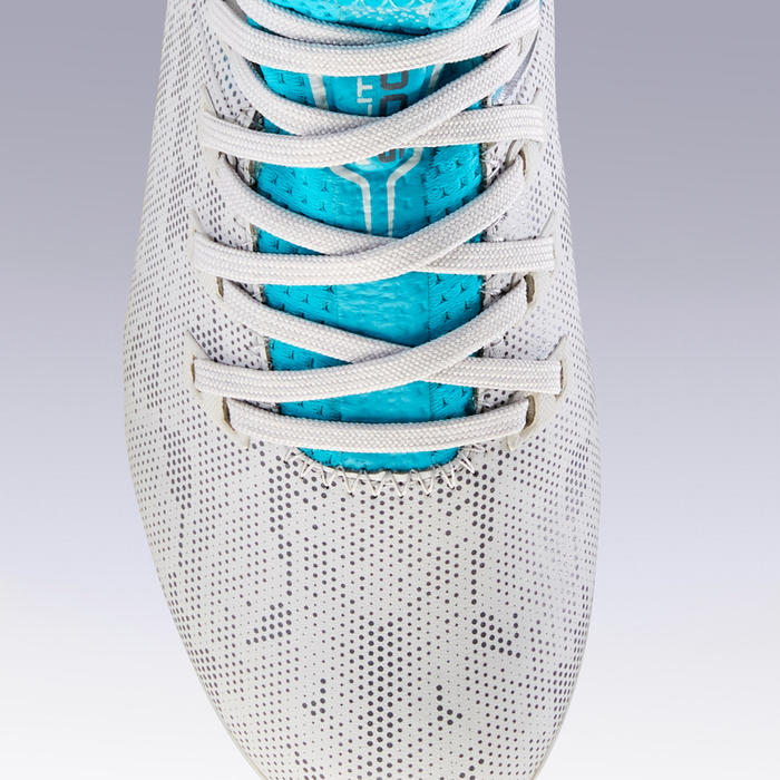 Voetbalschoenen kind Agility 900 FG grijs/turquoise