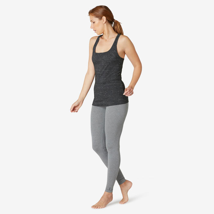 Débardeur Sport Pilates Gym douce Femme 500 Regular noir