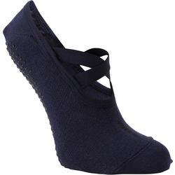 Calcetines antideslizantes Pilates y Yoga Domyos mujer azul
