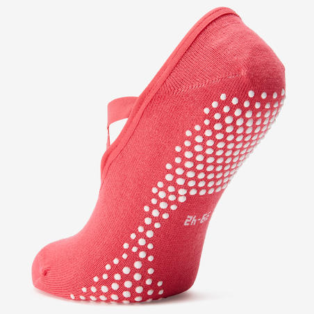 Kaus Kaki Balet Gym Ringan & Pilates Anti-Selip Wanita - Pink