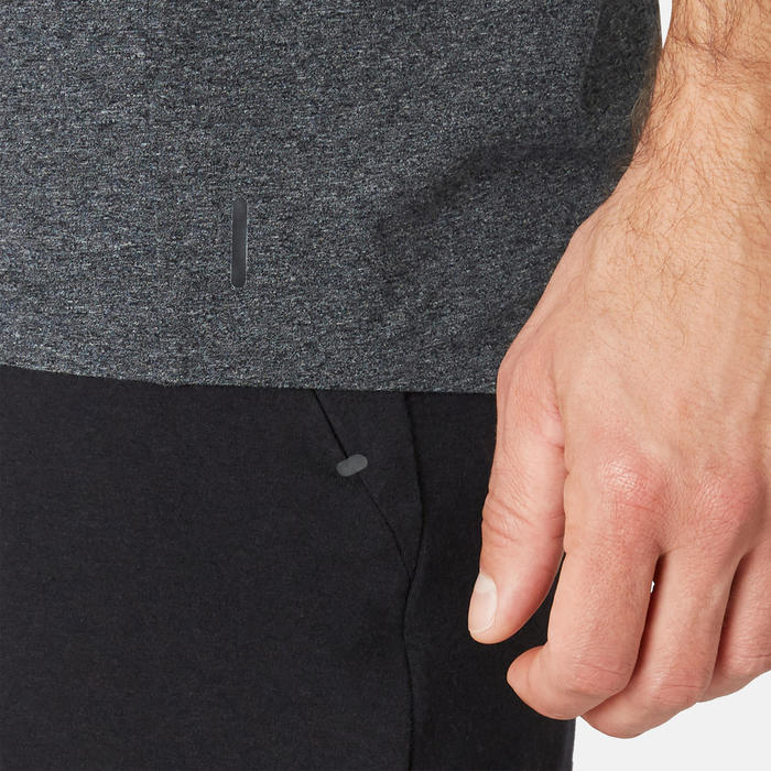 Camiseta Sport Pilates y Gimnasia suave hombre 900 Slim Gris Oscuro