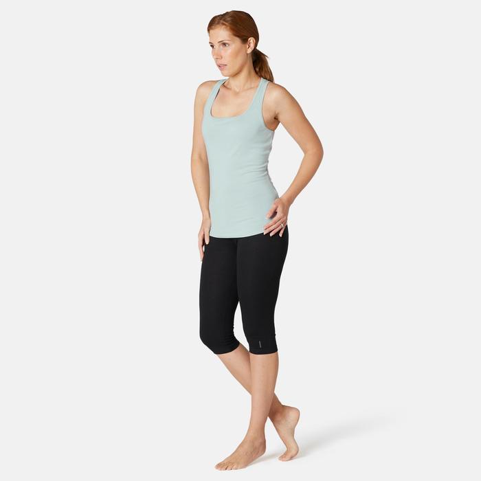 Débardeur Sport Pilates Gym Douce Femme 500 Regular Vert