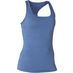 Débardeur Sport Pilates Gym Douce Femme 500 Regular Bleu