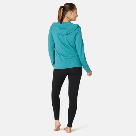Veste à capuche zippée femme 100 vert