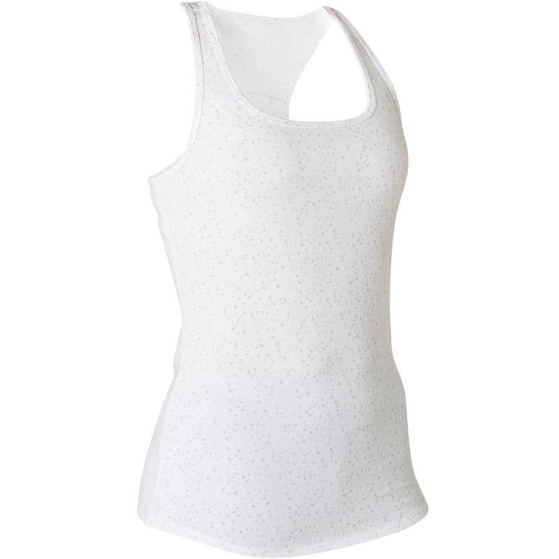 Women's Gentle Gym & Pilates Regular-Fit Tank Top 500 - White