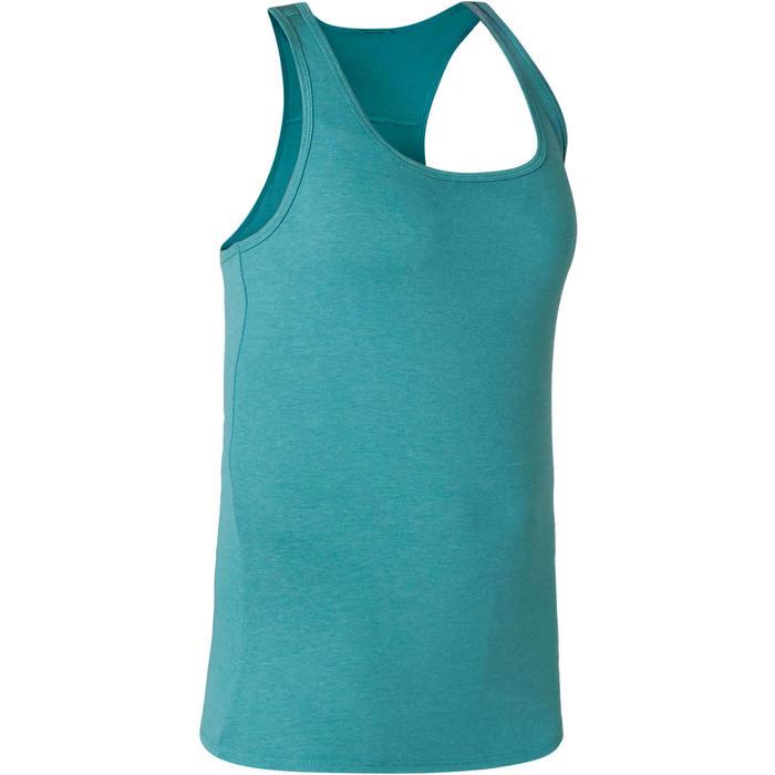 Débardeur Sport Pilates Gym Douce Femme 500 Regular Bleu Gris