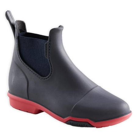 Kids' Horse Riding Boots 100 - Navy/Pink