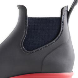 Boots équitation enfant 100 marine et rose
