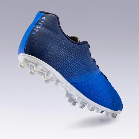 Tenis de fútbol para adulto. Terrenos secos. Agility 140 FG Azul