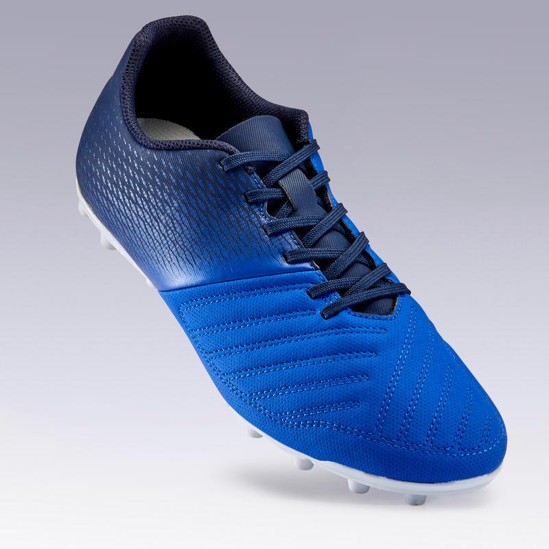 Zapatillas de fútbol adulto terrenos secos Agility 140 FG adulto azul