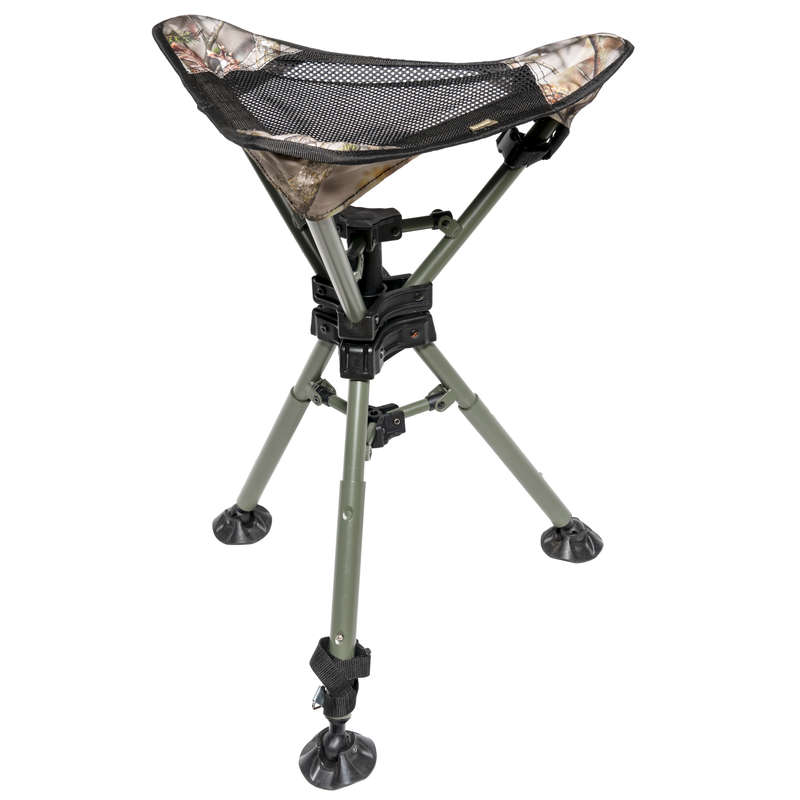 STOOLS/SEATS Shooting and Hunting - 500 rotary stain.steel tripod SOLOGNAC - Hunting and Shooting Accessories