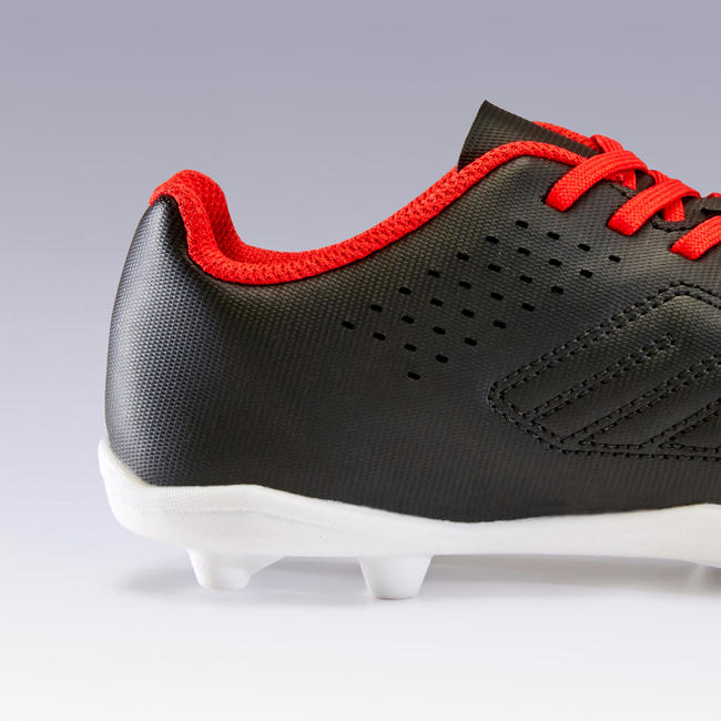 Kids' Football Boots Agility 100 FG - Black/Red