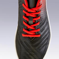 兒童款草地足球鞋AGILITY 100 HG-紅黑配色