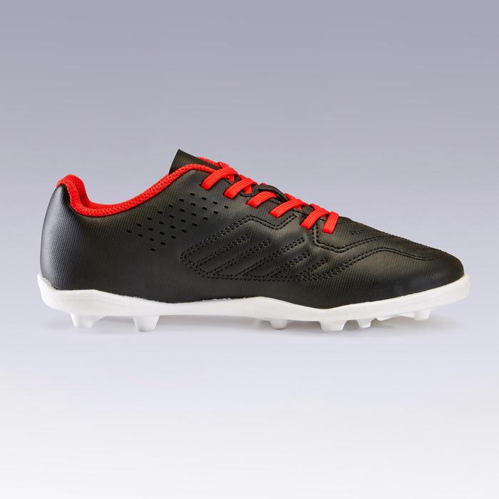 兒童大釘足球鞋Agility 100 HG-紅黑配色