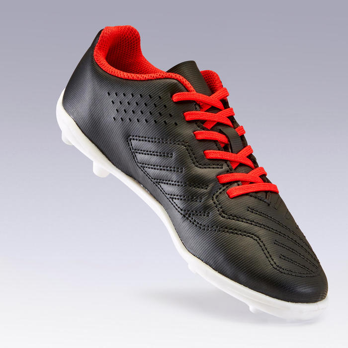 Hard Ground Football Boots Agility 100 HG - Black/Red