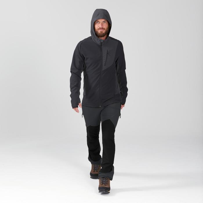 Softshell coupe-vent de trek montagne - TREK 900 WIND noir homme