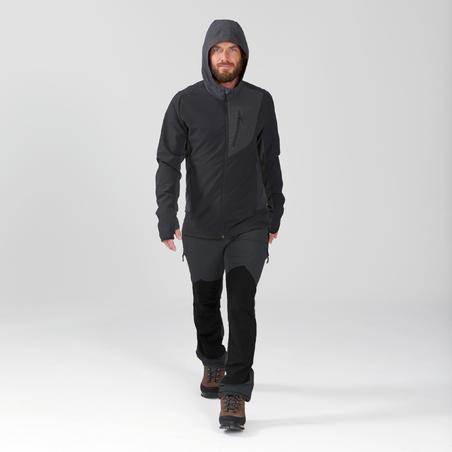 """Vīriešu kalnu trekinga Softshell un vēju aizturoša jaka """"Trek900 Wind"""", melna"""