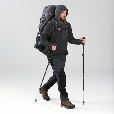 Pantalón de Montaña y Trekking de Hombre Forclaz Trek 900 Gris Cortaviento