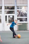 DĚTSKÁ OBUV NA FUTSAL Futsal - FUTSALOVÉ KOPAČKY 100 ČERNÉ  IMVISO - Futsal
