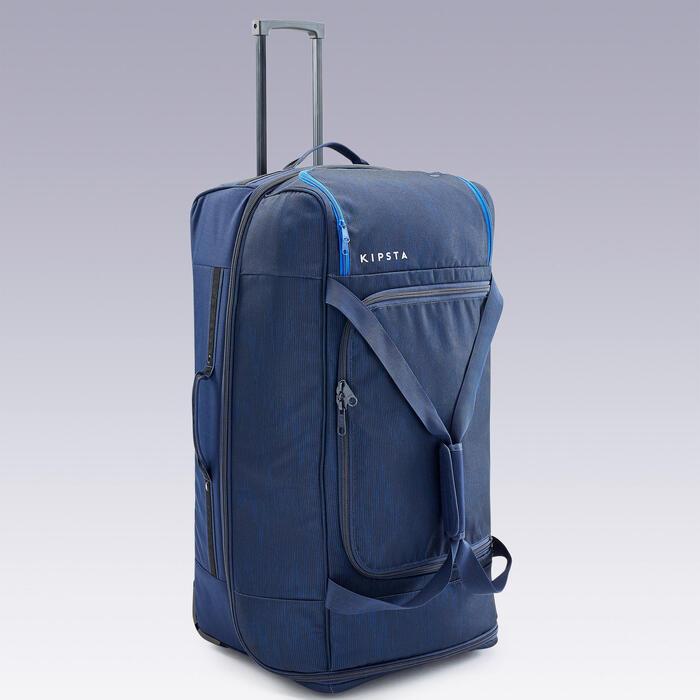 Tas op wieltjes trolley Essentiel 105 liter marineblauw