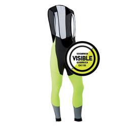 Collant à bretelles vélo route TRIBAN RC500 jaune fluo visible EN1150