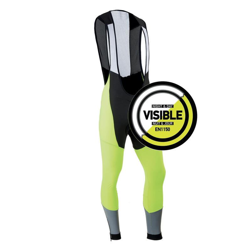 RC500 Hi-Vis Super Roubaix Warm Cycling Bib Tights - EN1150 Yellow