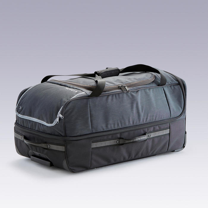 Tas op wieltjes trolley Essentiel 105 liter zwart