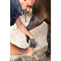 Cure-pied brosse équitation bleu électrique