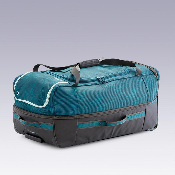 Sac à roulettes Trolley - valise Essentiel 105L verte et grise