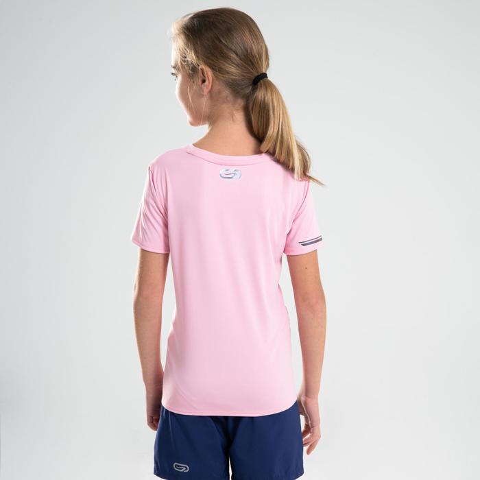 兒童款田徑T恤AT 300-淡粉紅色