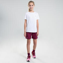AT 100 KIDS' ATHLETICS T-SHIRT - WHITE