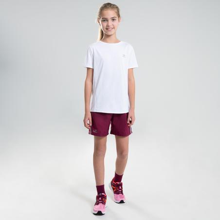 T-shirt d'athlétisme AT100blanc– Enfants