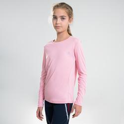 長袖防曬T恤AT 100-粉紅色