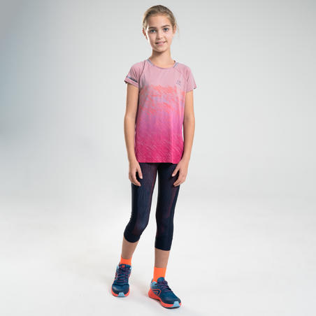 AT 500 GIRLS' ATHLETICS T-SHIRT - PINK