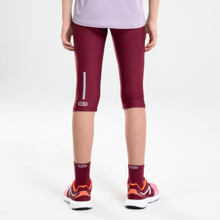 AT 100 Athletics Cropped Bottoms Purple – Kids