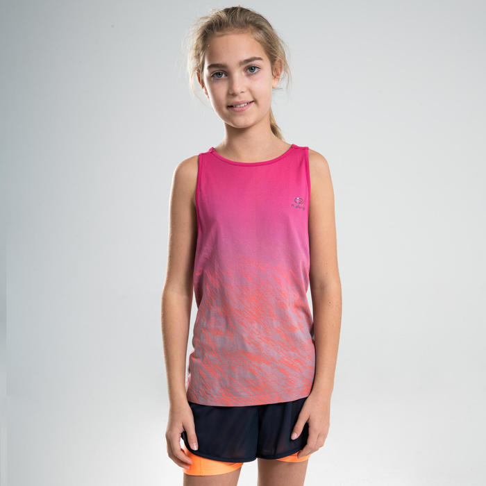 AT 500 GIRLS' ATHLETICS TANK TOP - PINK
