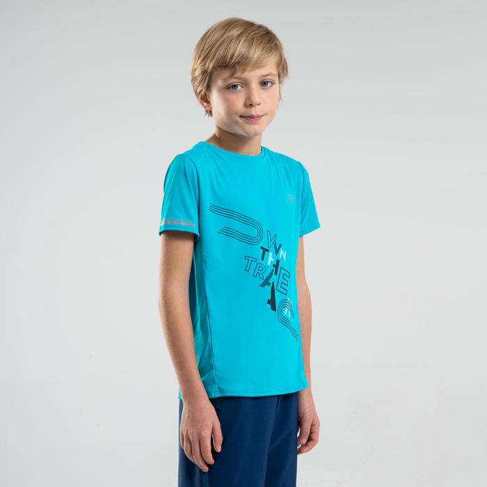 AT 300 KIDS' ATHLETICS T-SHIRT - TURQUOISE