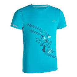 AT 300 KIDS' ATHLETICS T-SHIRT - TURQUOISE