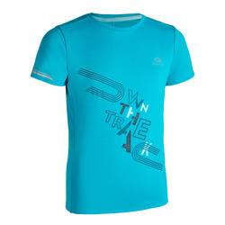 T-shirt Atletismo AT 300 Criança Turquesa