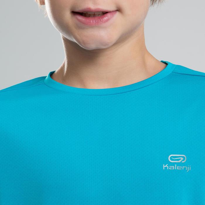 Áo thun chạy bộ AT 100 cho trẻ em - Xanh ngọc lam