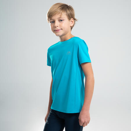 T-SHIRT ATLETIK ANAK AT 100 - BIRU TURQUOISE