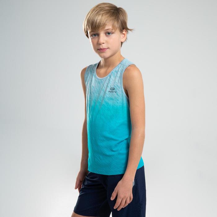 Débardeur enfant d'athlétisme AT 500 Bleu turquoise