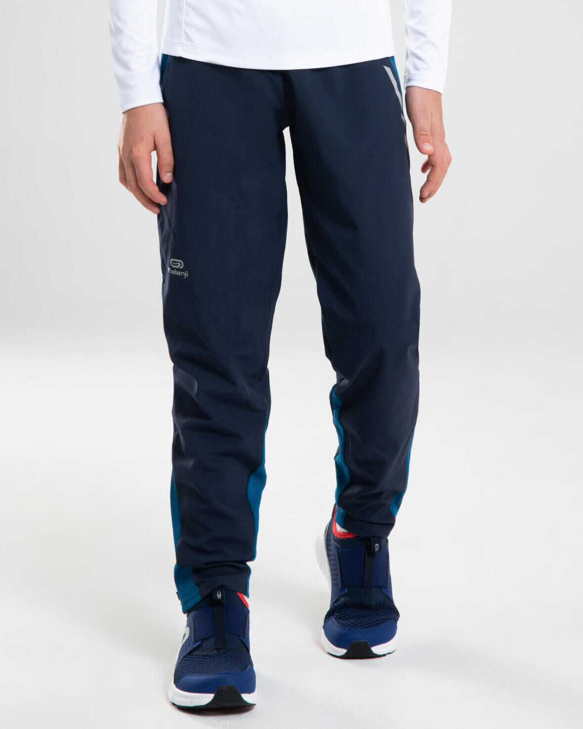CHILDREN'S LIGHTWEIGHT TROUSERS FOR ATHLETICS OR SPORTS AT SCHOOL - NAVY BLUE