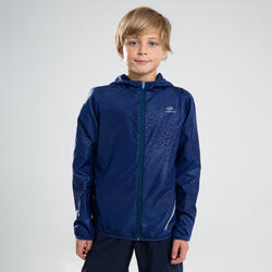 KALENJI AT 100 KIDS' ATHLETICS WINDPROOF JACKET - INK BLUE