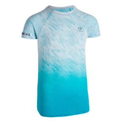 AT 500 KIDS' ATHLETICS T-SHIRT - TURQUOISE
