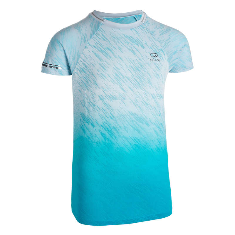 KIDS ATHLETICS CLOTHES ACCESS Clothing - AT 500 T-SHIRT JR TURQUOISE KALENJI - By Sport