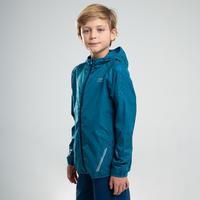 AT 100 Kalenji Athletics Windproof Jacket Petrol Blue – Kids